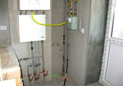 Требующее отключения газовое оборудование