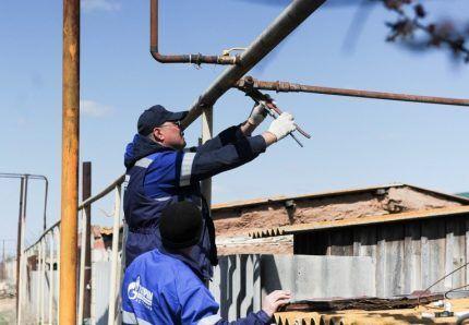 Обрезка газовой трубы в деревне
