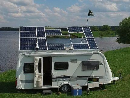 Кемпер с солнечными панелями