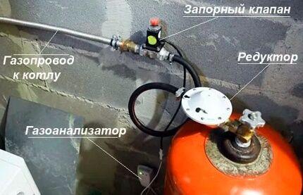 Арматура для использования сжиженного газа