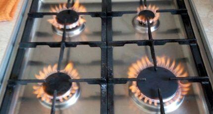 Газовое пламя с примесью воздуха