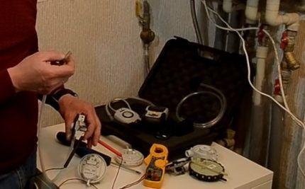 Проверка прессостата газового котла
