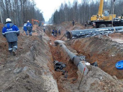 Восстановительные работы на газопроводе