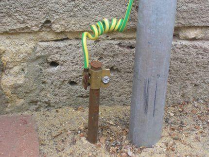 Проводник связи на участке контур-щиток