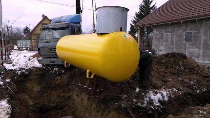 Подземный газгольдер для загородного дома