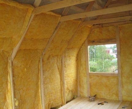 Утепление частного дома минеральной ватой