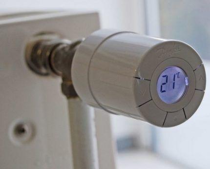 Термостат на радиаторе