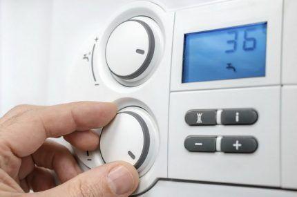 Ручное управление газовым котлом