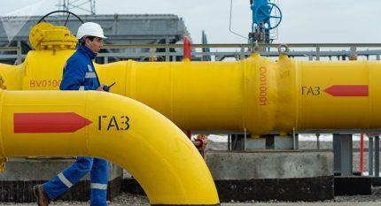 Газовая труба со стрелкой