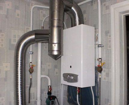 Типичная газовая колонка