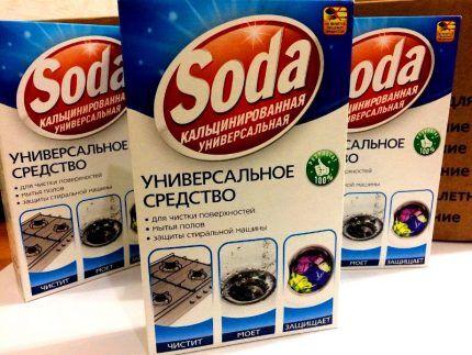 Кальцинированная сода для чистки