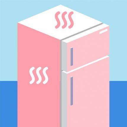 Нагревание стенок холодильника