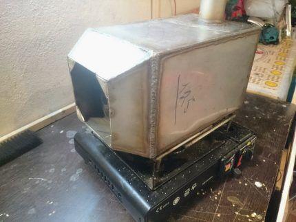 Стационарный газовый обогреватель с теплообменником