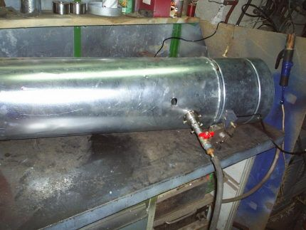 Сооружение газовой тепловой пушки