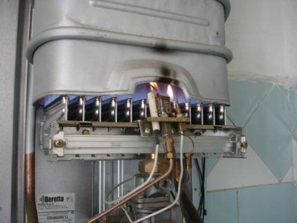 Тестирование горелки