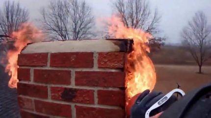 Пожар в дымоходе