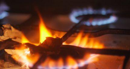 Цвет горения газа