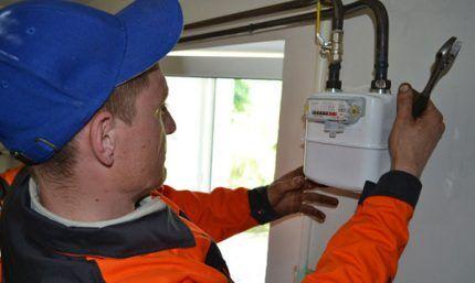 Установка газового счетчика специалистом