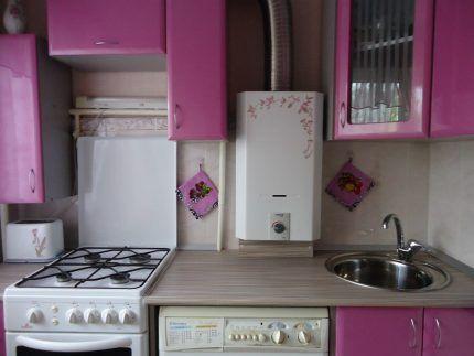 Пример кухни с основными газовыми приборами