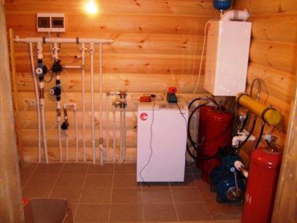 Использование газового ресивера для отопления дома