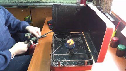 Газовая плита с одной конфоркой