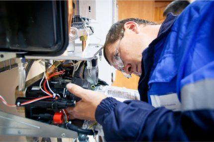 Осмотр газового оборудования