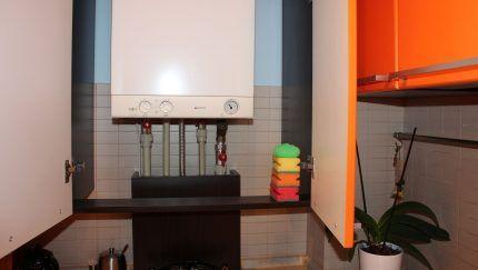 Размещение газового котла на кухне