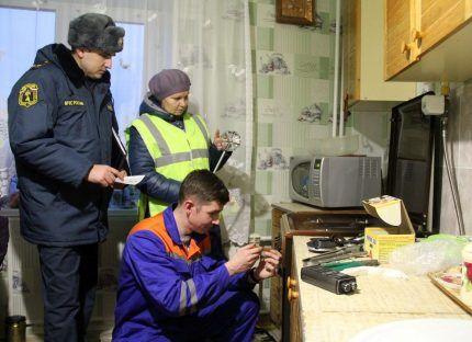 Проверка оборудования перед подключением газа