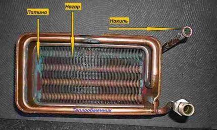 Загрязненный теплообменник