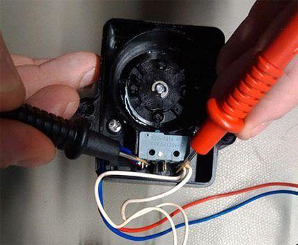 Проверка привода трехходового клапана