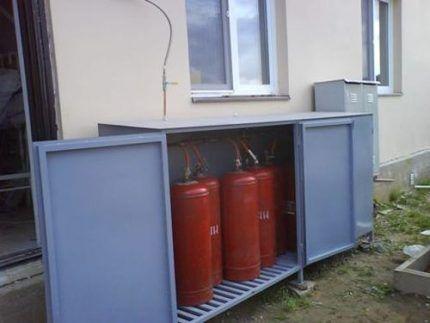 Отопление сжиженным газом в баллонах
