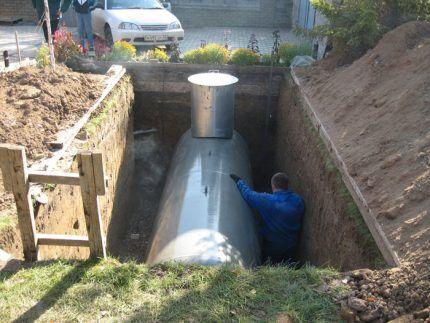 Хранение сжиженного газа в газгольдере