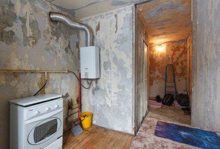Ремонт в квартире с газовой плитой