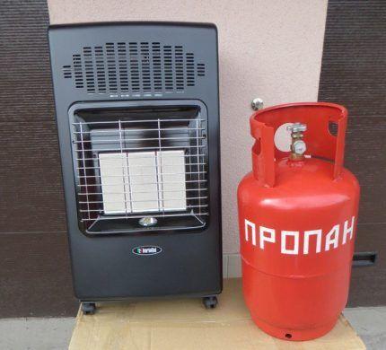 Мобильный газовый обогреватель на сжиженном газе