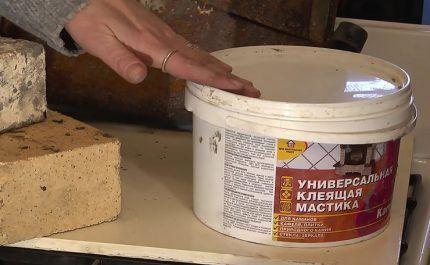 Термостойкая мастика для печей и каминов