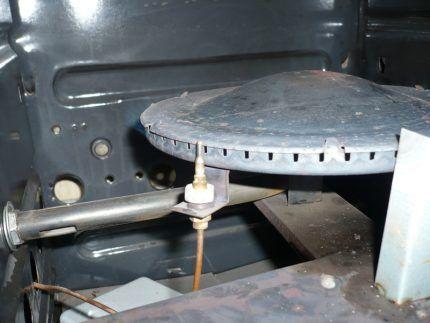 Термопара возле газовой горелки
