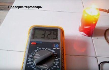 Измерение ЭДС термопары