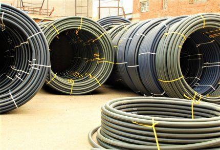 Трубы ПЭ для газа в бухтах