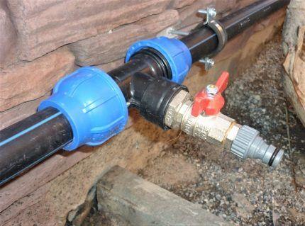 Дачный водопровод из ПЭ труб
