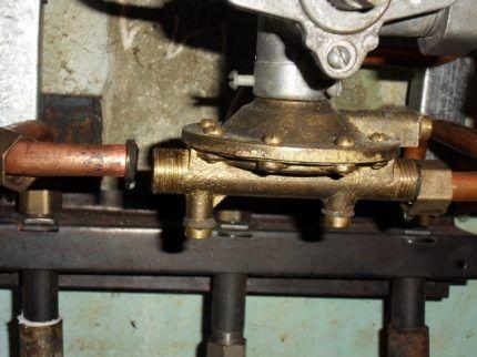 Водяной блок газовой колонки