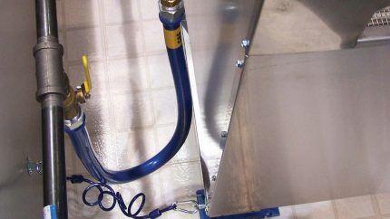Подводка газовой плиты