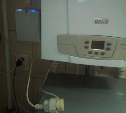 Газовый котел, подключенный к электросети