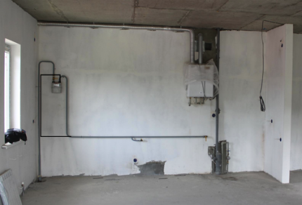 Подгонка газовой трубы для переноса плиты
