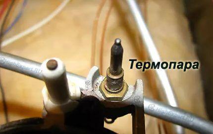 Термопара в конструкции газовой плиты