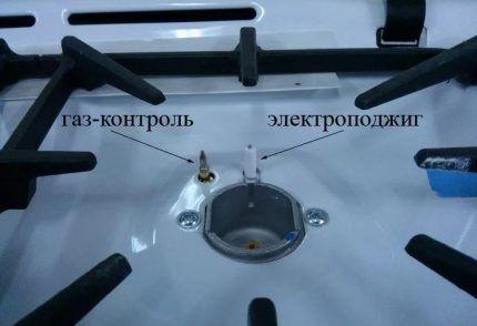 Элементы электроподжига газовой плиты