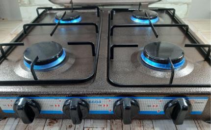 Настольная газовая плита с 4 конфорками