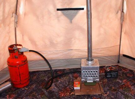 Эксплуатация самодельного конвектора в палатке