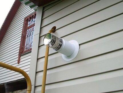 Дефлектор на коаксиальный дымоход от конвектора