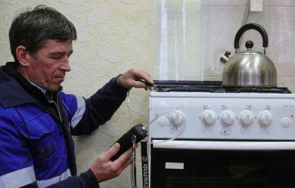 Действия газовщиков при проверке