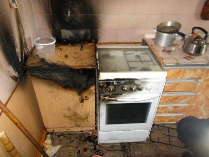 Безопасность эксплуатации бытовой газовой плиты